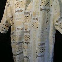 Joe Marlin Original Outfitters  Bone Fish Fossil Linen Shirt  Xl  Euc   Photo