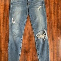 Joe's Destroyed Skinny Ankle Stretch Womens Blue Jeans Size 28w Photo