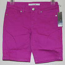 Joe's Jeans Girls Solid Fuchsia Bermuda Stretch Everyday Cotton Shorts Sz 12 New Photo
