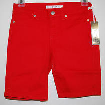 Joe's Jeans Girls Solid Red Bermuda Stretch Everyday Cotton Shorts Sz 12 New Photo