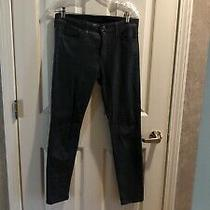 Joe's Jeans Icon Sz 28 Charcoal Gray Skinny Faux Leather Pants Jeans Msrp 158 Photo