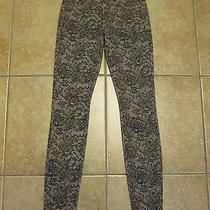 Joe's Jeans Skinny Denim Chantilly Floral Lace Blush Sz 26 Photo