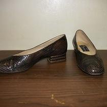 Joel Parker - Size 7 B - Low Heel Pumps - Snake (Brown) Photo