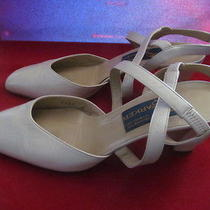 Joel Parker Womens Ivory Heel Sandals Shoes 8 B Sexy Italy Photo