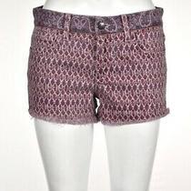 Joes Daisy Dukes Womens Shorts Size 26 Purple Black Denim Cotton Mid Rise Photo