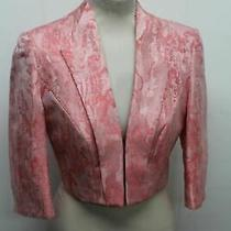 John Charles London Ladies Pink Blush Abstract Blazer Jacket Size Uk10 New Photo