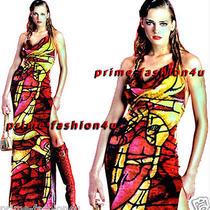 John Galliano Christian Dior Multi Color Velvet Open Back Vintage Dress Photo
