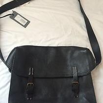 John Varvatos Black Leather Satchel Photo