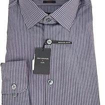 John Varvatos Blue Graphite Slim Fit Dress Shirt Size 16 Photo