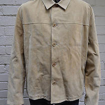 John Varvatos Brown Tan Suede Leather Button Jacket 56 Italy Photo
