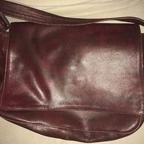 John Varvatos Burgundy Leather Messenger Photo