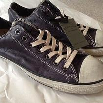 John Varvatos Converse All Star Black Leather Lace Up Shoes Sneakers Ltd Ed 10 Photo
