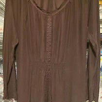 John Varvatos Converse Silk Dress Small 1 Brown Perfect Photo