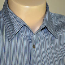 John Varvatos Cotton Casual Shirt Sz L Photo