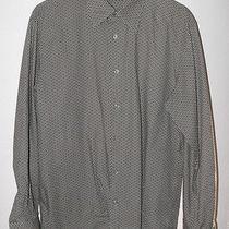 John Varvatos Green Artwork Pattern Long Sleeve Shirt L 16.5 X 35/36 Photo