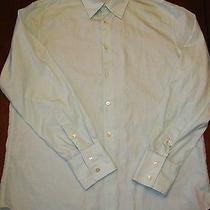 John Varvatos Green Dress Shirt Size L Photo