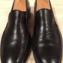 John Varvatos  Handmade  Black Leather Mens Loafers Size 11 Retail 295.00 Photo