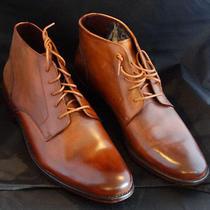 John Varvatos John Varvatos Luxe Chukka Plain Toe on Leather Sole Photo