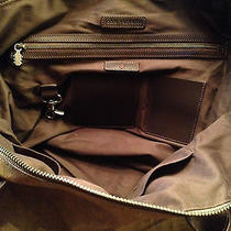 John Varvatos Leather Duffle With Strap Photo