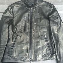 John Varvatos Men's Zip Leather Jacket  Photo