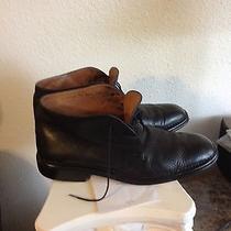 John Varvatos Mens Black Leather Chukka Ankle Boots Us10 Photo