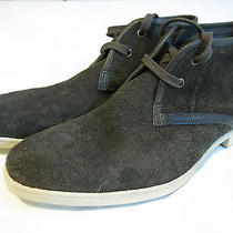 John Varvatos Mens Gray Leather Suede Shoes Chukkas  New Wt 8 1/2 D 8.5 Soft Photo