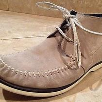 John Varvatos Mens Shoes Beige Tan Suede Chukka Desert Boot Us 10 Photo