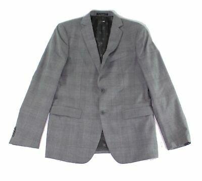 John Varvatos Mens Suit Seperates Gray Size 38 R Blazer Check Print $500 098 Photo