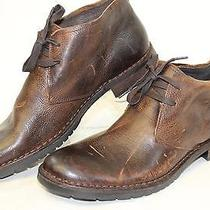 John Varvatos New Mens 9.5 M Brown Leather Chukka Ankle Boots Wh Photo