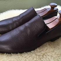 John Varvatos Pebbled Calfskin Loafers Photo