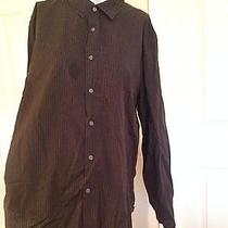 John Varvatos Striped Buttoned Long Sleeve Xl Photo