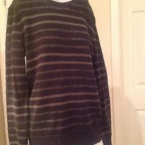 John Varvatos Striped Crewneck Sweater M Photo