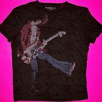 John Varvatos Tee Shirt Wayne Kramer Mc5 Burnout Usa Flag Fender Guitar Gray L Photo