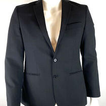 John Varvatos Usa Mens Blazer Jacket Black Wool Blend Size 38 R Photo
