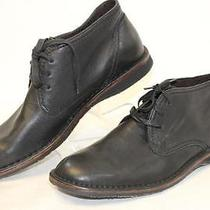 John Varvatos Usa New Hipster Mens 10 M Black Leather Ankle Chukka Boots Wd Photo