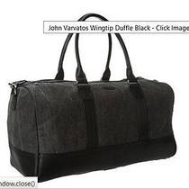 John Varvatos    Wingtip Duffle Black Bag   John Varvatos  Photo
