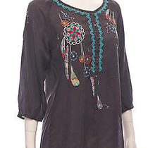 Johnny Was Collection Graphite Dream Catcher Blouse S Photo