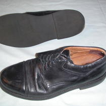 Johnston & Murphy Express Mens Black Leather Cap Toe Oxfords Used Shoes Size 11 Photo