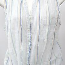 Joi Womens See-Through Multi Colored Stips Tank Cami Size Small Photo