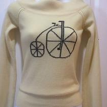 Joie 100% Cashmere Bike Sweater Nwt 235 Small Fits Xs Photo