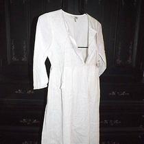 Joie.....220  White Embroidered Cotton Indian Gauze Desert Moon Summer Dress Xs Photo