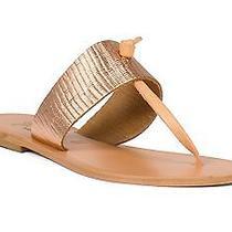 Joie a La Plage Nice Metallic Thong Sandals Rose Gold Sz 39 Photo