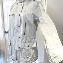 Joie Barker Utility Hooded Drawstring Zipper Jacket/coat Light/blue/gray 365  M Photo