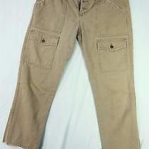 Joie Beige Pants Denim Jeans 29 Womens Capris Cropped Fringe Casual Cargo Photo