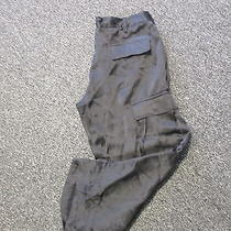 Joie Black 100% Silk Button Fly Solid Cargo Style Casual Cropped Pants Sz27 K463 Photo