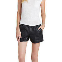 Joie Black Jourdina Leather Shorts  Sz. Large 395 Nwt Photo