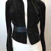 Joie Black Velvet Cropped Blazer Jacket M Photo