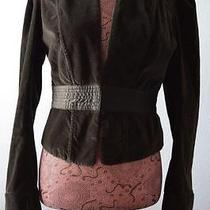 Joie Black Velvet Short Blazer Jacket L Photo