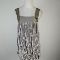 Joie California Gorgeous Silver Gray Velvet Silk Cocktail Dress S Photo