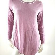 Joie Cashmere Lilac White Asymmetric Sweater Top Tunic S Photo